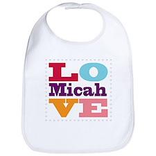 I Love Micah Bib