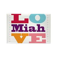I Love Miah Rectangle Magnet
