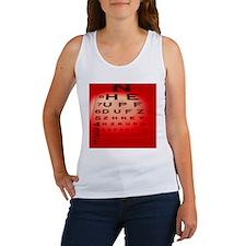 View of a Snellen eye test chart - Women's Tank To
