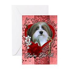 Valentines - Key to My Heart - Havanese Greeting C