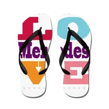 I Love Mercedes Flip Flops
