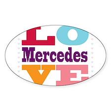 I Love Mercedes Decal