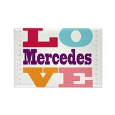 I Love Mercedes Rectangle Magnet (100 pack)