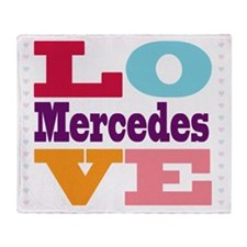 I Love Mercedes Throw Blanket