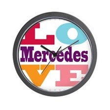 I Love Mercedes Wall Clock