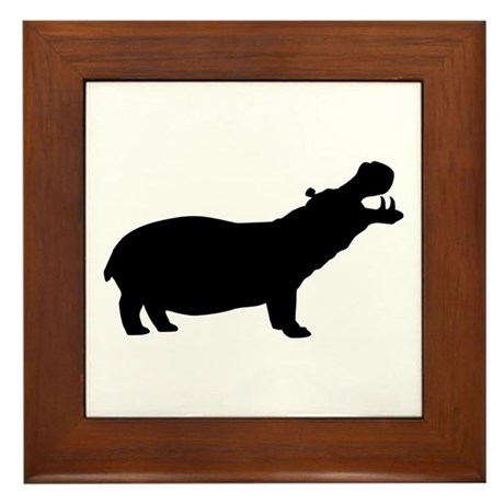 Hippo Framed Tile
