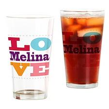 I Love Melina Drinking Glass
