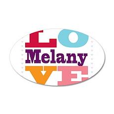 I Love Melany Wall Decal