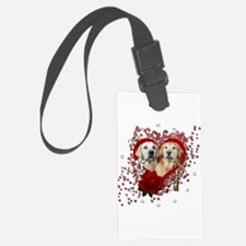 Valentines - Key to My Heart - Goldens Luggage Tag