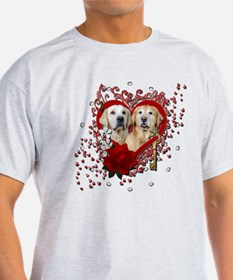 Valentines - Key to My Heart - Goldens T-Shirt