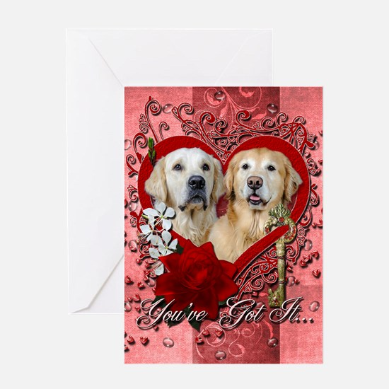Valentines - Key to My Heart - Goldens Greeting Ca