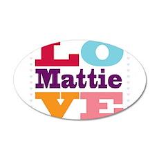 I Love Mattie Wall Decal