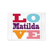 I Love Matilda 5'x7'Area Rug