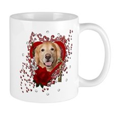 Valentines - Key to My Heart - Golden Mug
