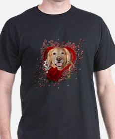 Valentines - Key to My Heart - Golden T-Shirt