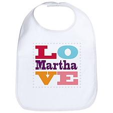 I Love Martha Bib