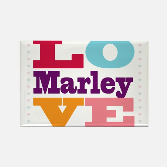 I Love Marley Rectangle Magnet