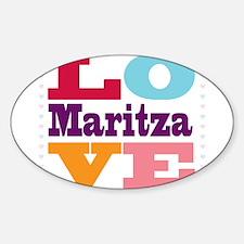 I Love Maritza Sticker (Oval)