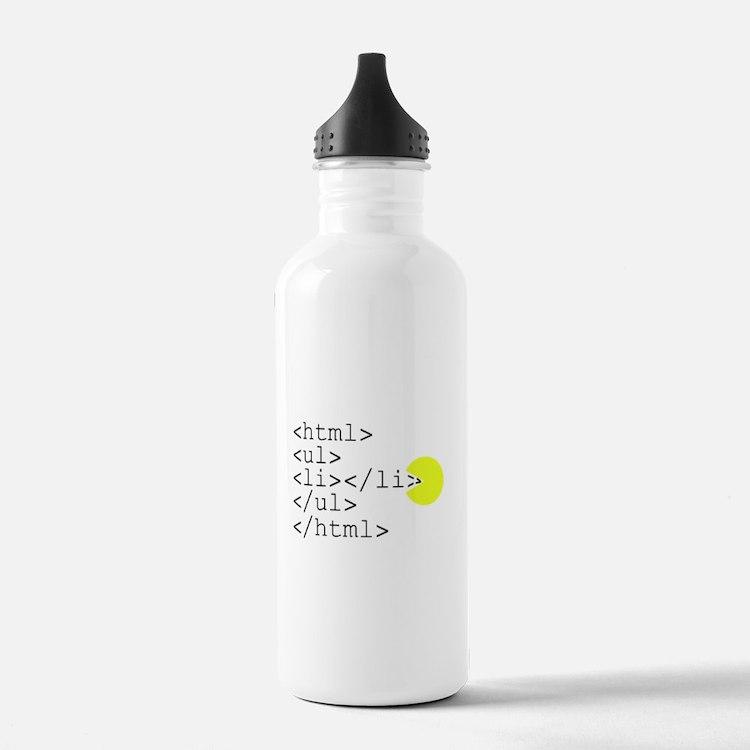 HTML Pacman Water Bottle