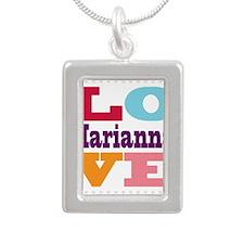 I Love Marianna Silver Portrait Necklace