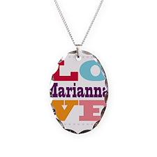 I Love Marianna Necklace Oval Charm