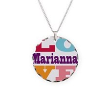 I Love Marianna Necklace Circle Charm