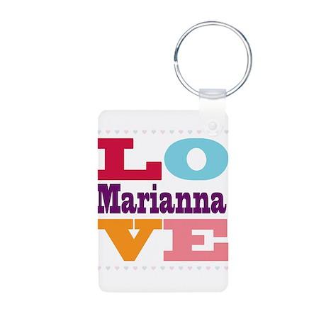 I Love Marianna Aluminum Photo Keychain