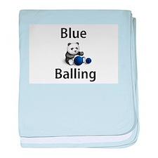 Blue Balling baby blanket