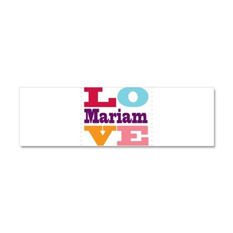 I Love Mariam Car Magnet 10 x 3