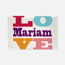 I Love Mariam Rectangle Magnet
