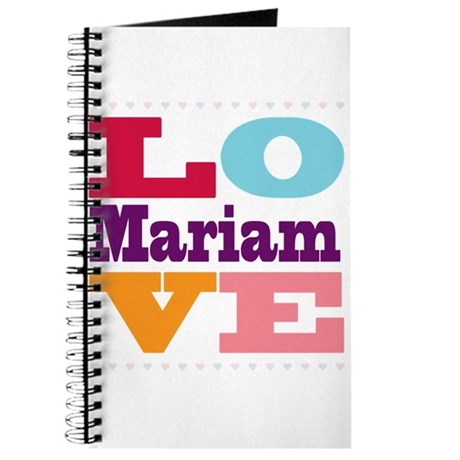 I Love Mariam Journal