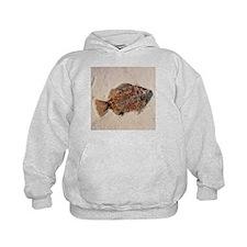 Fossilised fish, Priscacara serata - Hoodie