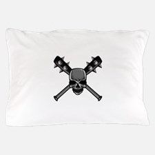 SkullCrossbats copy Pillow Case