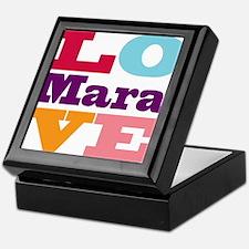 I Love Mara Keepsake Box