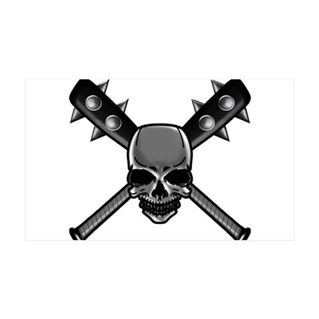 SkullCrossbats copy 35x21 Wall Decal