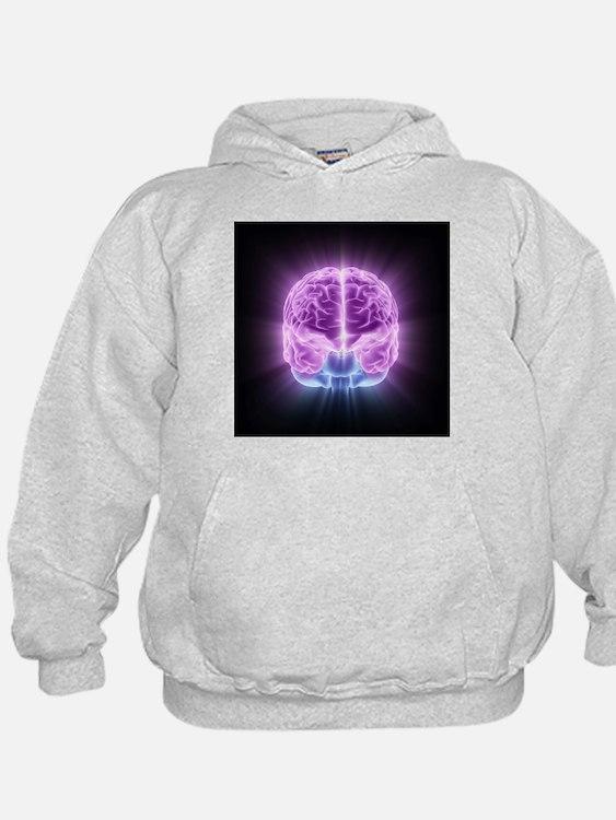 Human brain,computer artwork - Hoodie