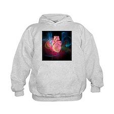 Human heart, artwork - Hoodie