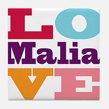 I Love Malia Tile Coaster