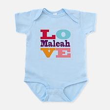 I Love Maleah Infant Bodysuit