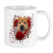 Valentines - Key to My Heart - Shar Pei Mug