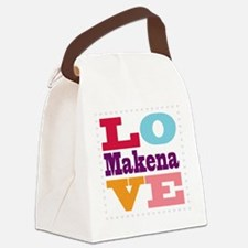 I Love Makena Canvas Lunch Bag