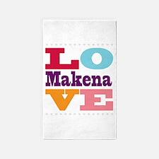 I Love Makena 3'x5' Area Rug