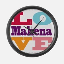 I Love Makena Large Wall Clock