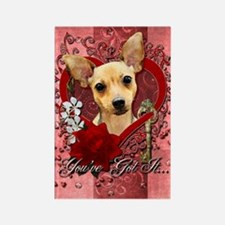 Valentines - Key to My Heart - Chihuahua Rectangle