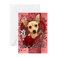 Valentines - Key to My Heart - Chihuahua Greeting