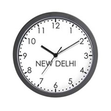 NEW DELHI Modern Newsroom Wall Clock