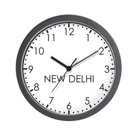 NEW DELHI Modern Newsroom Wall Clock