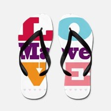I Love Maeve Flip Flops