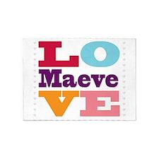 I Love Maeve 5'x7'Area Rug