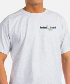 Sanibel Island - Map Design. T-Shirt
